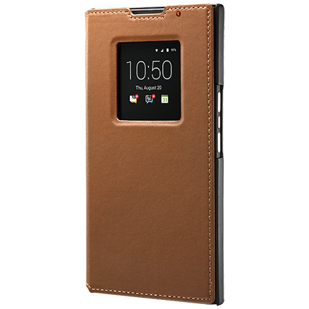Чехол BlackBerry PRIV Leather Smart Flip Case, Tan