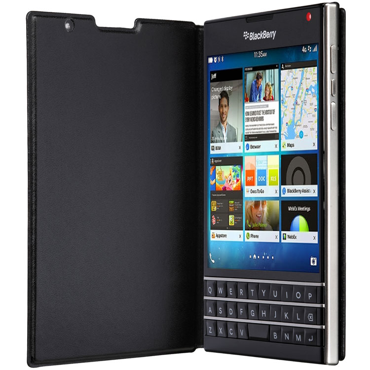 Чехол BlackBerry Passport Leather Flip Black