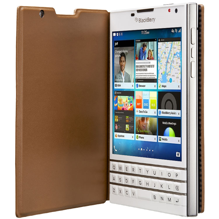 Чехол BlackBerry Passport Leather Flip Tan