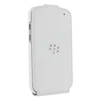Чехол BlackBerry Q10 Leather Flip Shell White