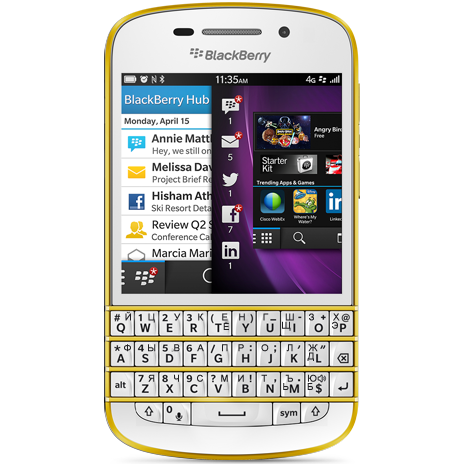 BlackBerry Q10 Special Edition Gold