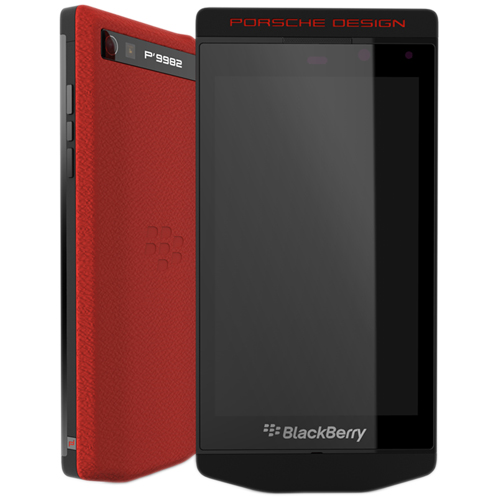 BlackBerry P'9982 Porsche Design Black Red