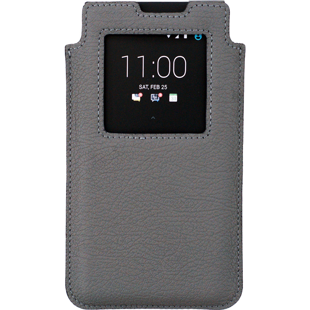 BlackBerry KEYone Leather Smart Case серый-матовый