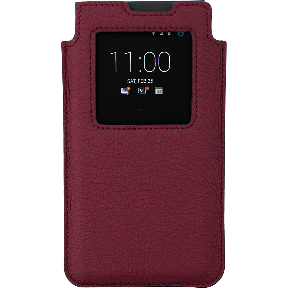 BlackBerry KEYone Leather Smart Case винный-матовый
