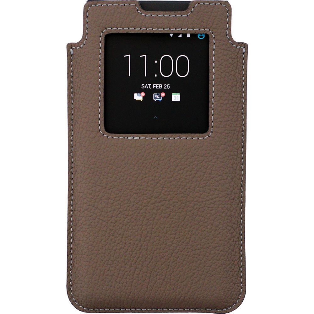 BlackBerry KEYone Leather Smart Case бежевый-матовый