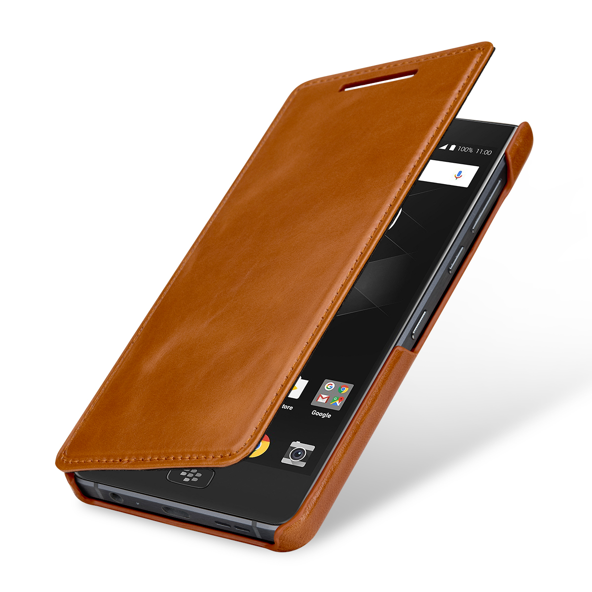 StilGut BlackBerry Motion Cover Book Type Cognac