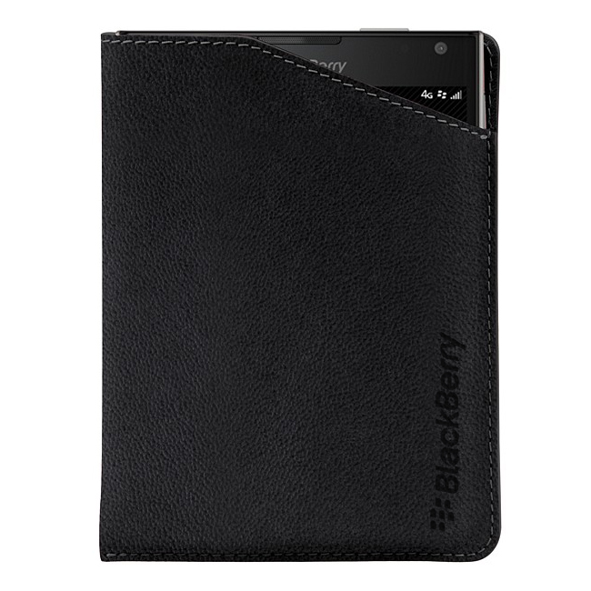 BlackBerry Passport Leather Notch Case Black