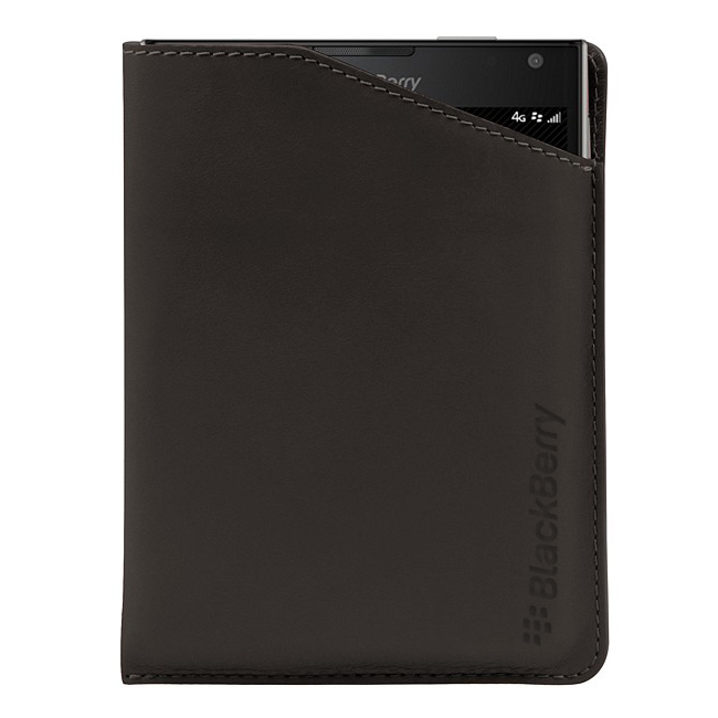 BlackBerry Passport Leather Notch Case Brown