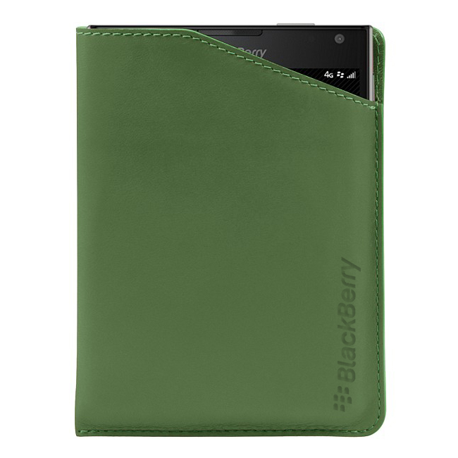 BlackBerry Passport Leather Notch Case Green