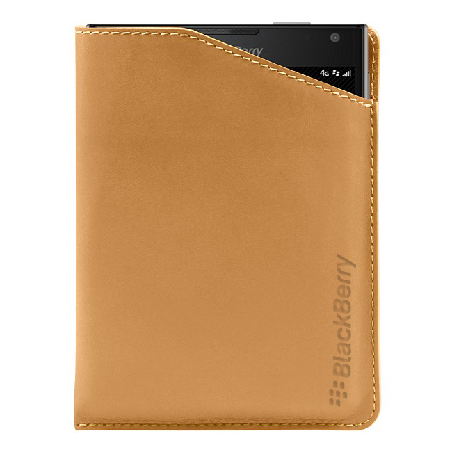 BlackBerry Passport Leather Notch Case Natural