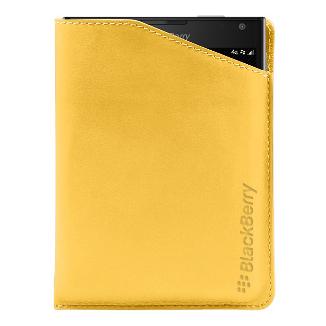 BlackBerry Passport Leather Notch Case Yellow