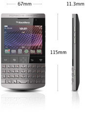 Dimensions of the BlackBerry Bold 9900